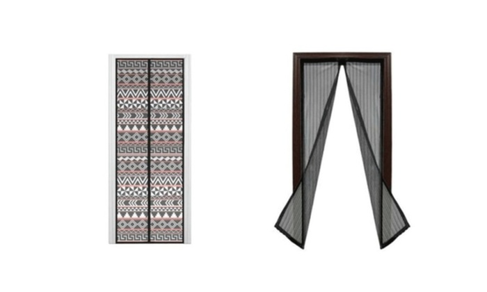 Magnetic Heavy Duty Mesh Screen Door Curtain With Full