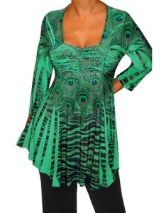 Funfash plus size clothing emerald green empire waist womens top shirt groupon also rh
