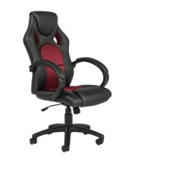 Racing Office Chairs Metal Leather Chair Executive Pu Swivel Computer Desk Seat