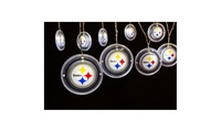 NFL String Lights  Suitable for indoor and outdoor use  Decorated with NFL team logos  Approximately 106 long  On/Off switch with a built-in timer  Each string contains 12 LED lights  Requires 3 AA batteries (not included)  Full dimensions: 106x4  By Team Sports AmericaFor post-purchase inquiries, please contact customer support.    Sold by Groupon Goods. View the FAQ to learn more.