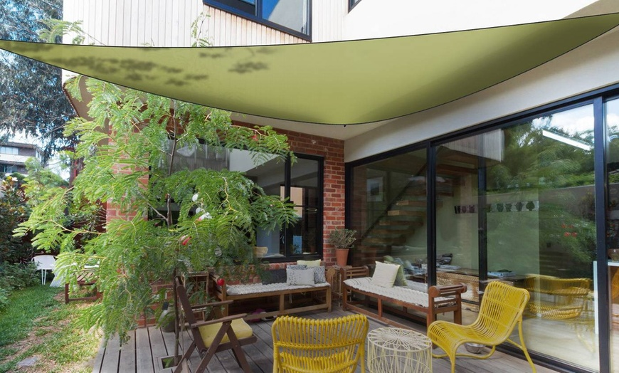 imountek sunshade patio cover shade canopy sail awning triangle shelter