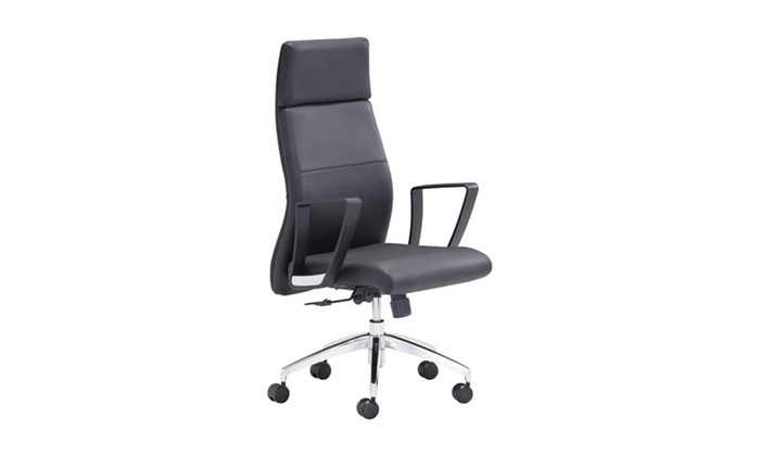 desk chair groupon oval table and 4 chairs zuo home meeting room furniture conductor low back office