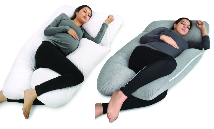 u shaped pregnancy pillow full body maternity support with jersey cover