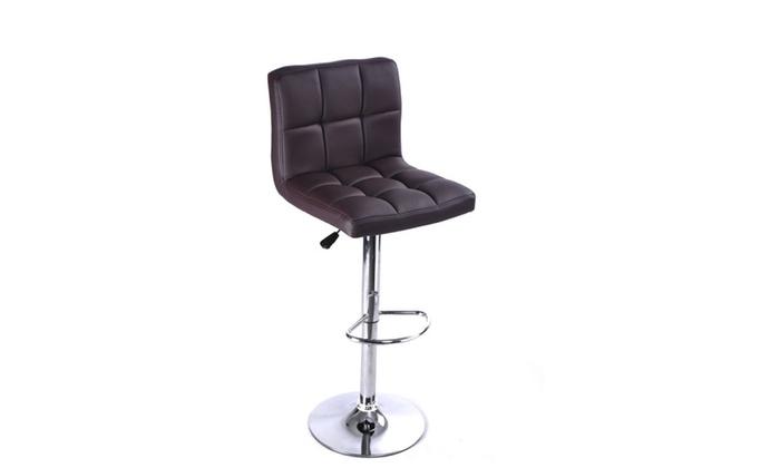 stool chair adjustable swing kijiji 1pc brown bar pu leather barstools counter