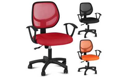 desk chair groupon mac sports folding marvel collection ergonomic office gaming shop red orange adjustable swivel computer with arms seating