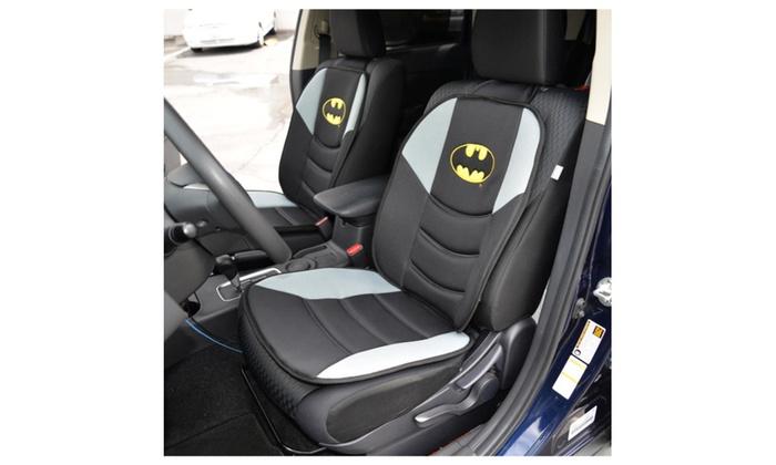batman car chair double saucer black dc comics superhero padded front seat cushion cover