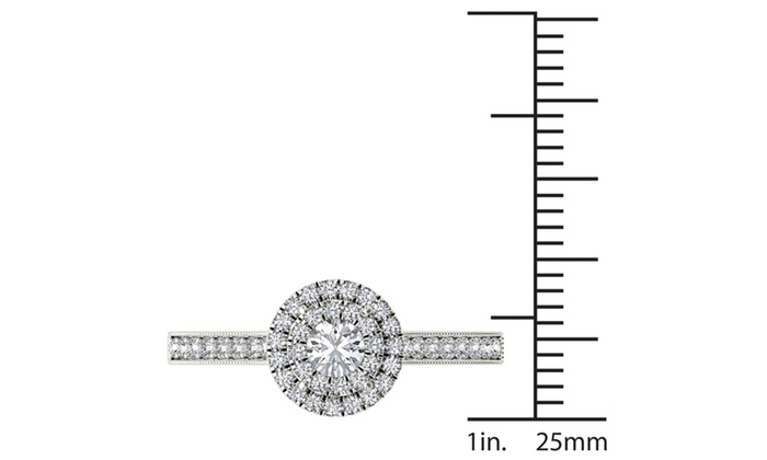 Up To 74% Off on De Couer 10k White Gold 1/2ct