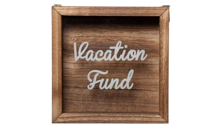 Wooden Shadow Box Bank Vacation Fund Shadow Box Adult Money Saving Piggy Bank Groupon
