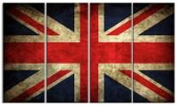 Vintage UK Flag - Contemporary Metal Wall Art | Groupon
