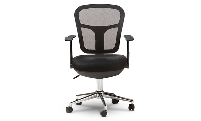 desk chair groupon modern grey kitchen chairs landon mesh adjustable office