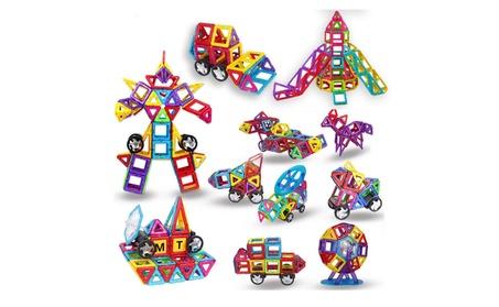 Intelligent magnetic 3D construction blocks tiles toy set of 198 pcs