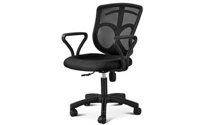 desk chair groupon high activities for 1 year old armen living bellevue office shop topeakmart adjustable mid back rolling