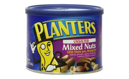 Planters Unsalted Mixed Nuts 103 Oz 12 pack Groupon