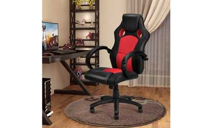 desk chair groupon posture cushion for marvel collection ergonomic office gaming shop costway high back race car style bucket seat