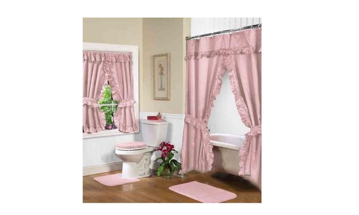 tea rose tiara double swag shower