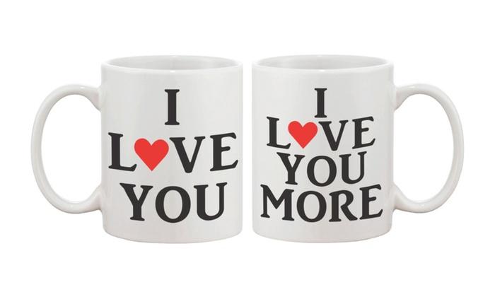 I Love You Matching Coffee Mug Cups Perfect Wedding