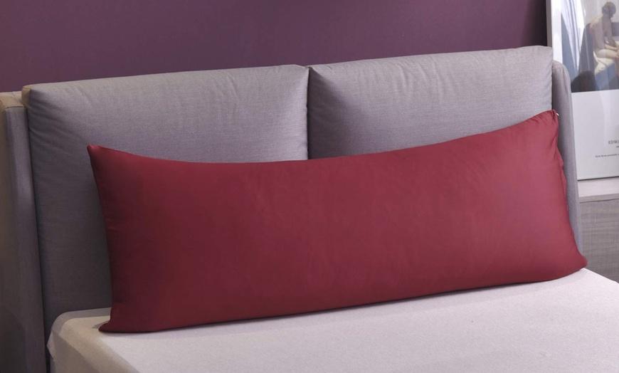 body pillow cover 20 x 54 inch pillowcase egyptian cotton envelope closure