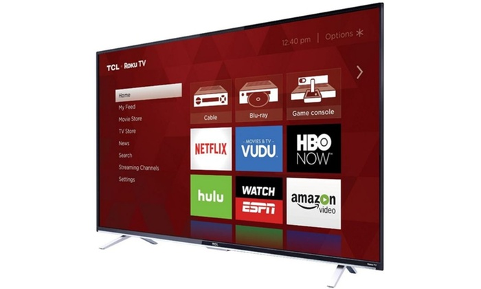 TCL 55US5800 55-Inch 4K Ultra HD Roku Smart LED TV 2016 Model Refurbished | Groupon