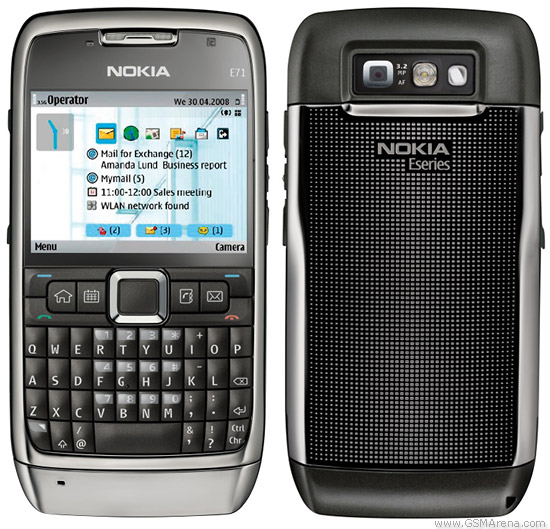 Nokia E71 Gray Steel (gambar dari GSM Arena)