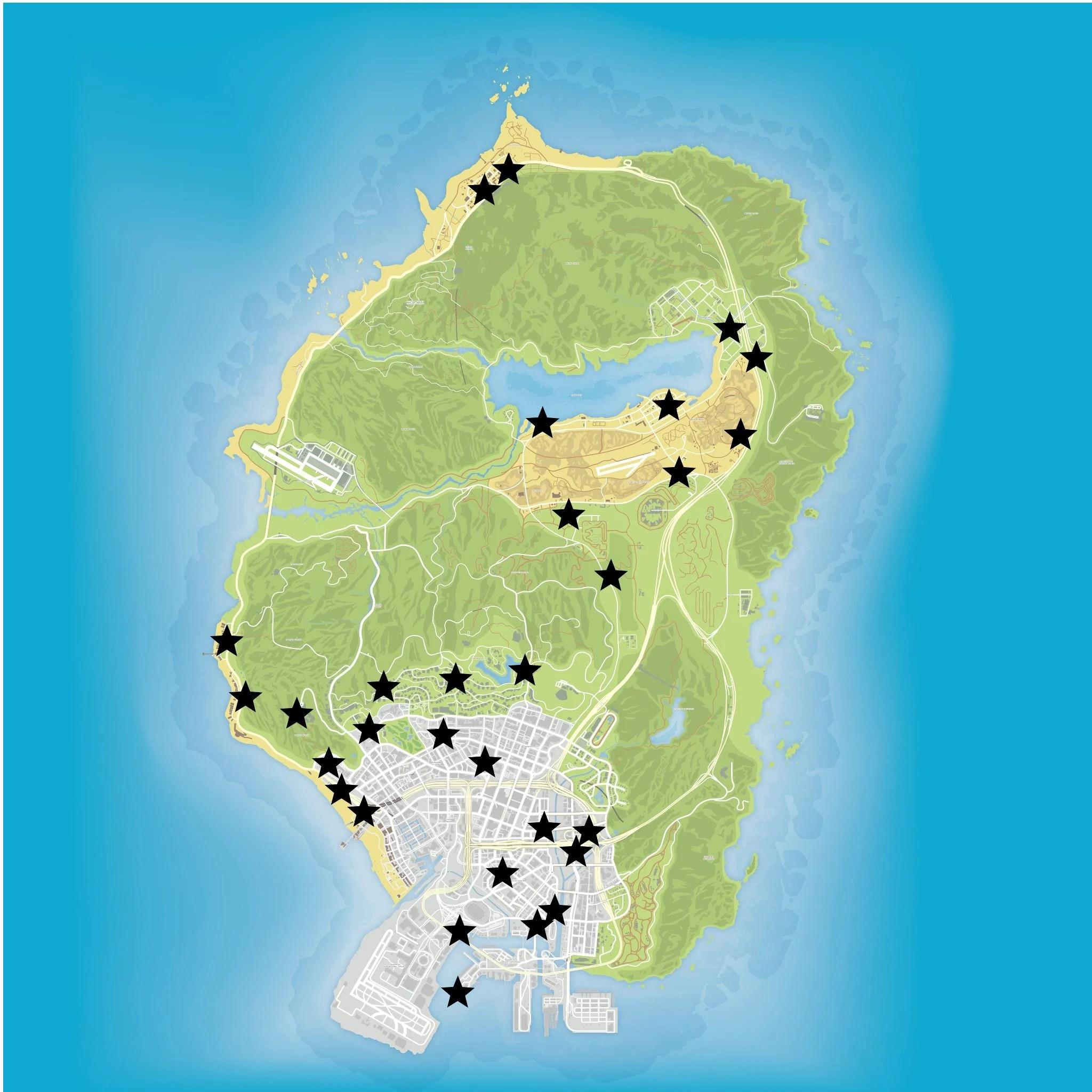 Gta 5 Garage: Ufo Gta V Map Locations