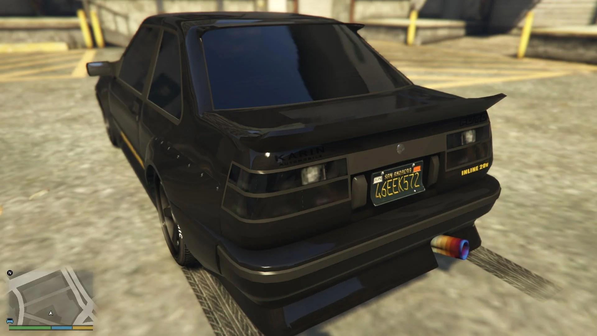 Gta V Car Wallpaper Futo Black Tuning Taillights Gta5 Mods Com