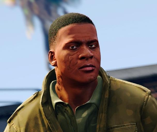 Chiseled  Grizzled Face for Franklin  GTA5Modscom
