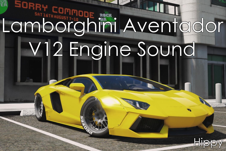 Lamborghini Aventador V12 Engine Sound  Gta5modscom