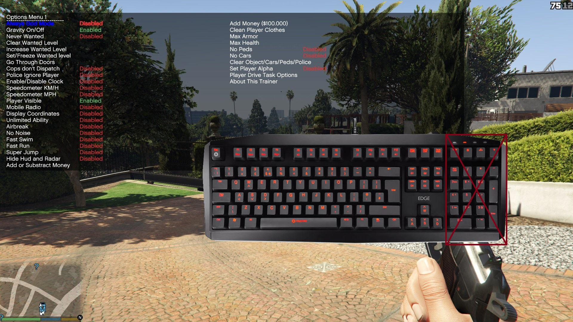 Simple Trainer for GTA V (For users who don't have number pad keys) - GTA5-Mods.com
