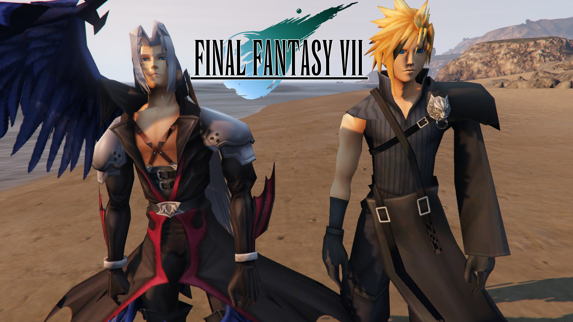 cloud strife and sephiroth