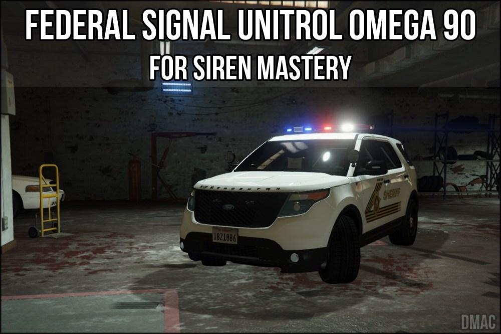 medium resolution of federal signal unitrol omega 90 for siren mastery