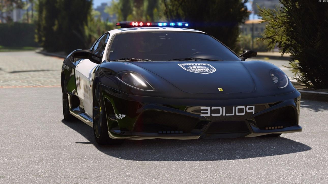 Ferrari F430 Scuderia, Ferrari F430 Scuderia Police Car, Ferrari F430 Scuderia Police Car Mod, Ferrari F430 Scuderia Police Super Car Mod BUSSID, Mod Ferrari F430 Scuderia BUSSID, BUSSID Car Mod, SGCArena