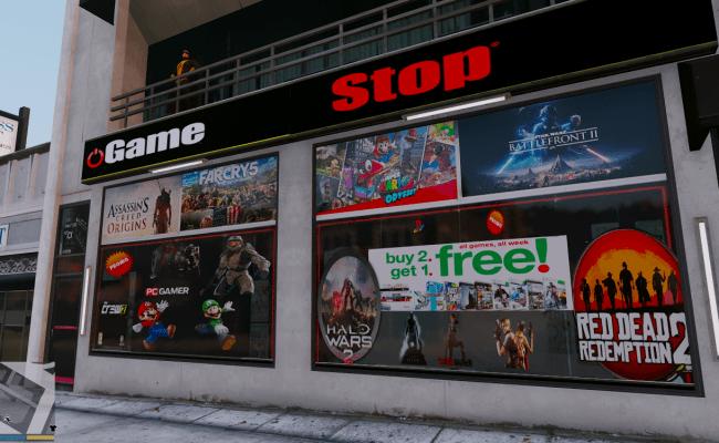 Gamestop Store Update Games Gta5 Mods