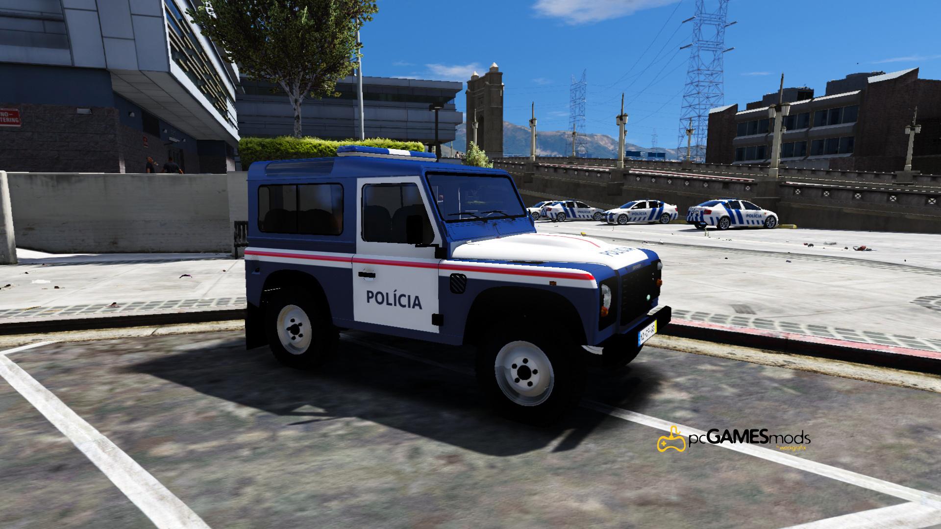 Portuguese Public Security Police Patrol Land Rover Defender