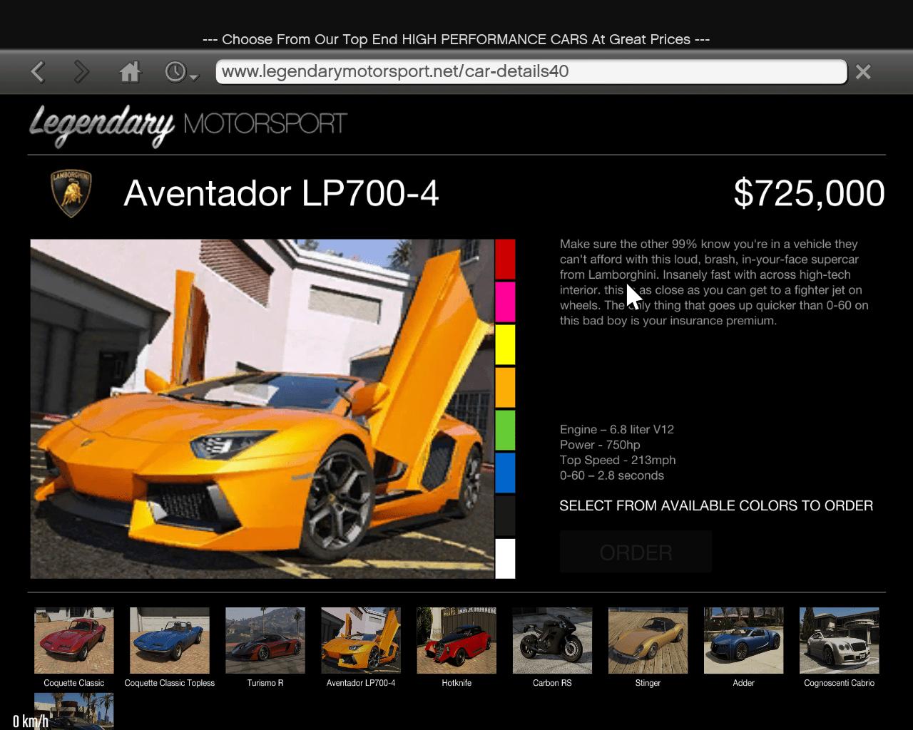 Real Cars For Legendary Motorsport Website
