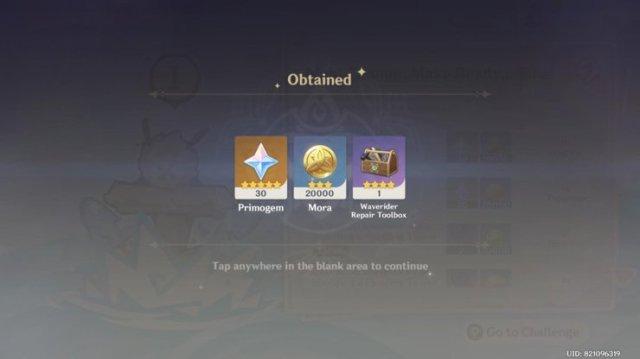 Challenge Rewards