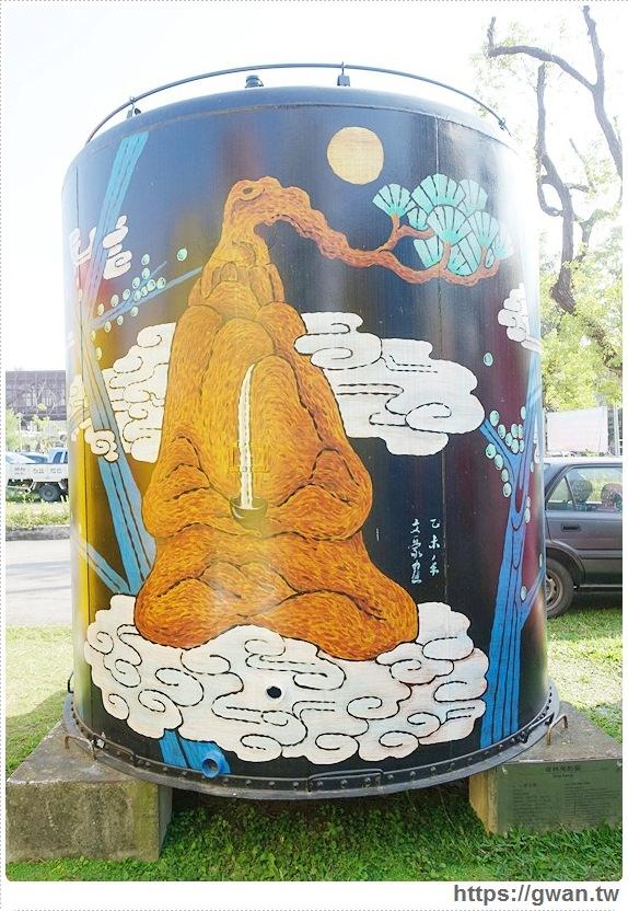 台中景點,文化創意產業園區,酒桶彩繪,大酒桶,台中舊酒廠,台中車站,後火車站,有很多大酒桶的地方,月亮小熊-10-550-1