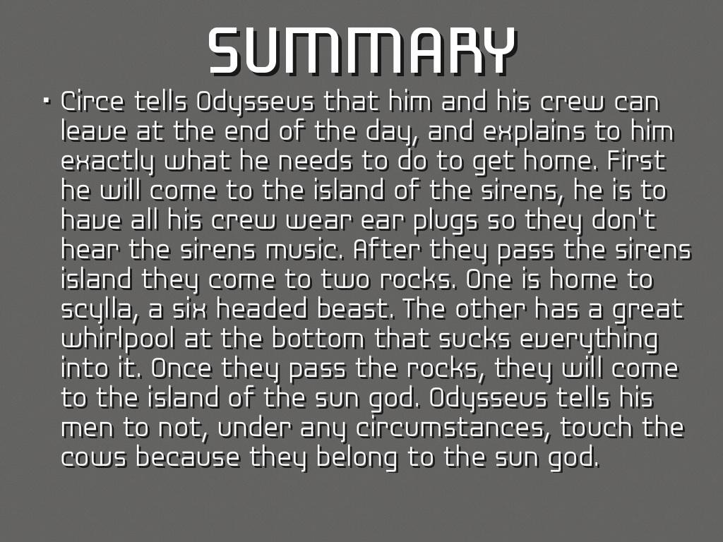 The Odyssey Book 12 Summary