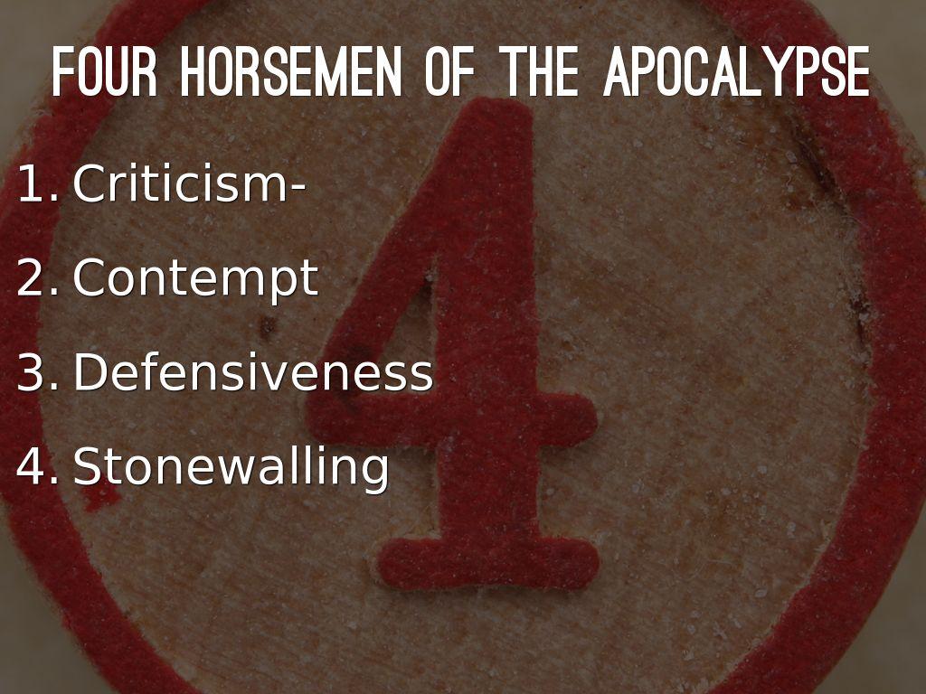 Gottman S Four Horsemen Of The Apocalypse By Adrianma