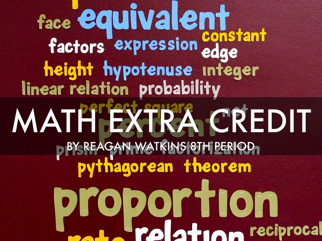 Math Extra Credit 8th By Reagan Watkins