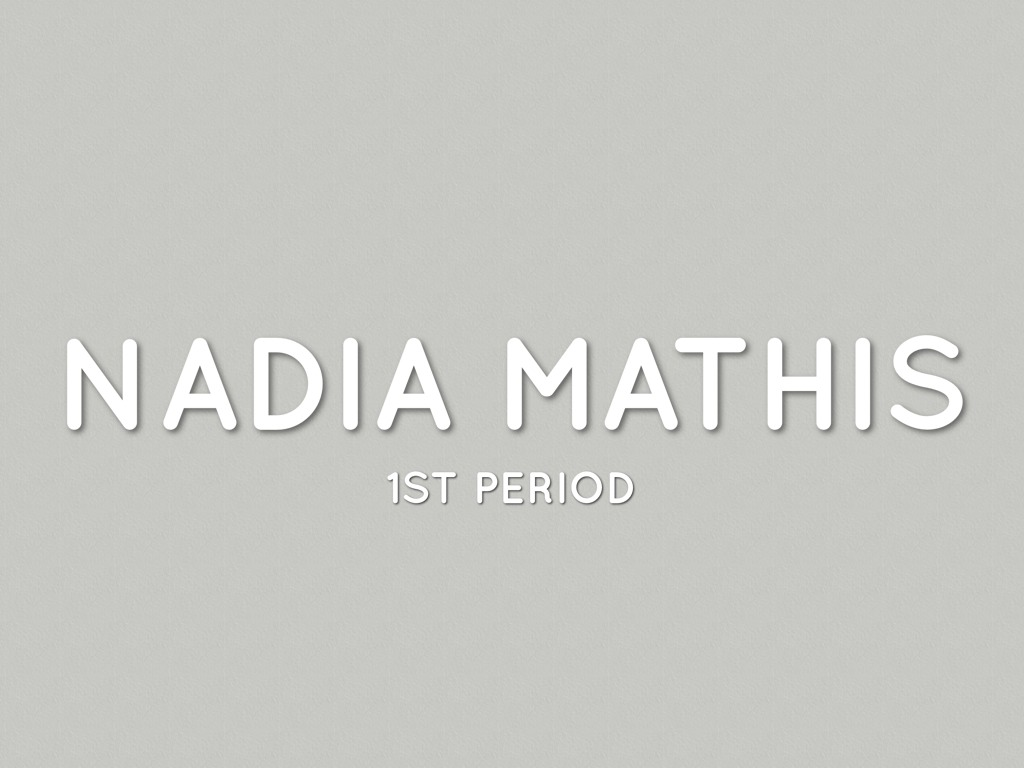 Introduction by Nadia Mathis