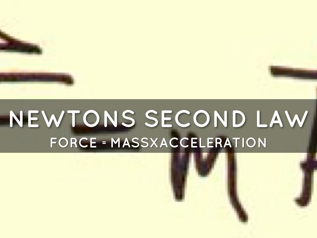 Newtons Law Of Motion By Tyson Henderson