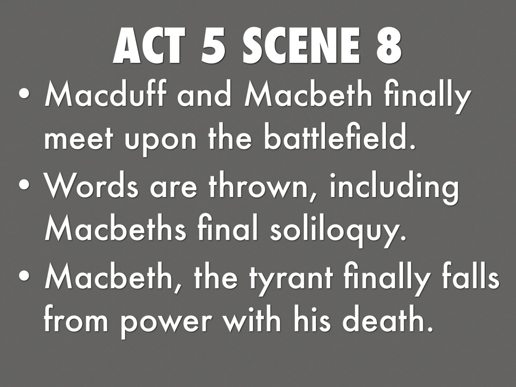 Copy of Macbeth Act 5 by Nick Crawford