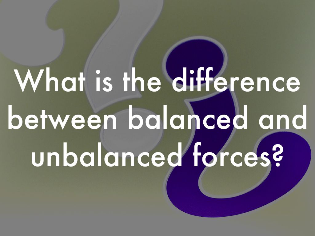 Balanced And Unbalanced Forces By Bryce Baxter