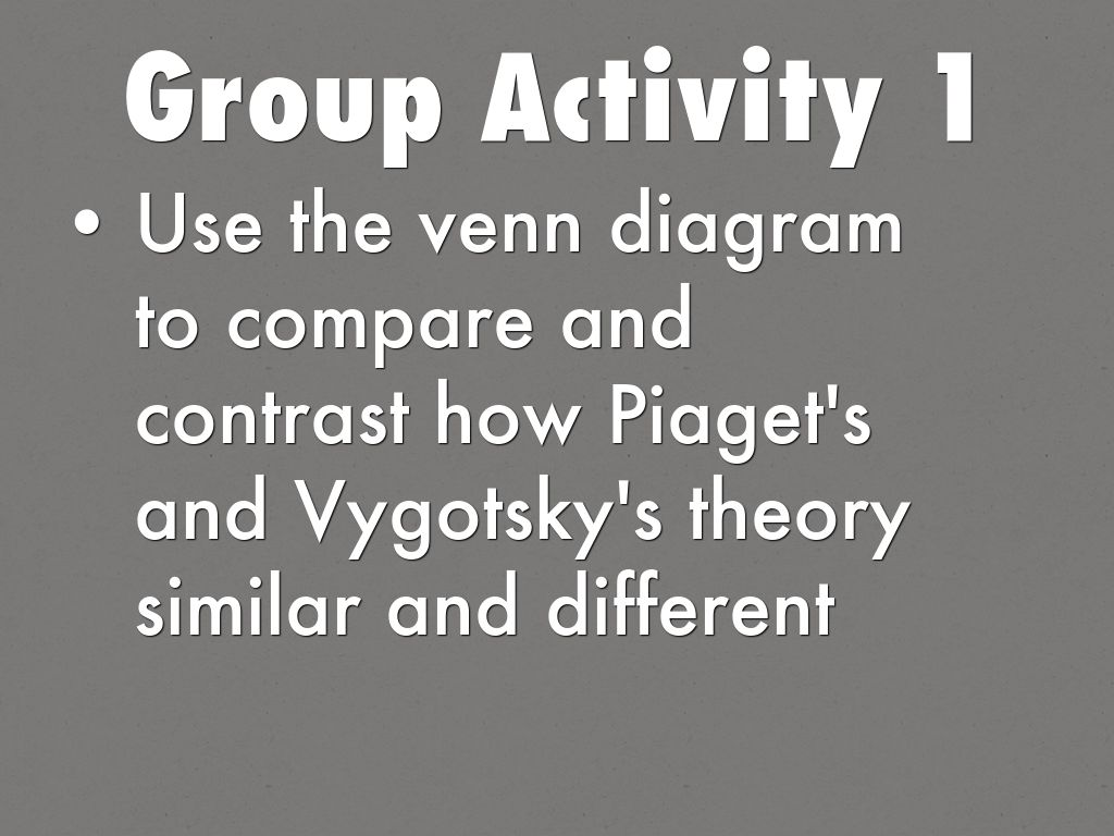piaget vs vygotsky venn diagram afc neo wiring sr20det cognitive development by tan group activity 1 use the to compare and contrast how s