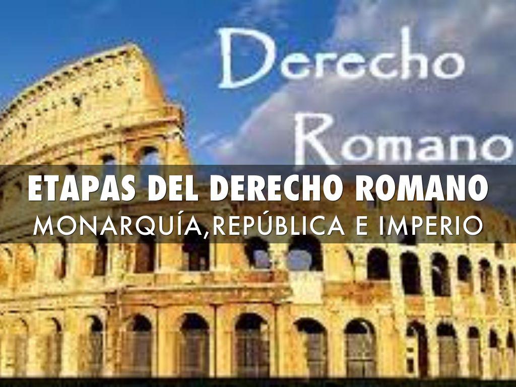 Etapas Del Derecho Romano By Fidelinacastroonofre