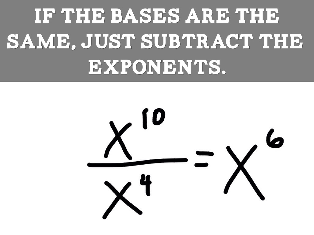 Dividing Exponents By Ejc