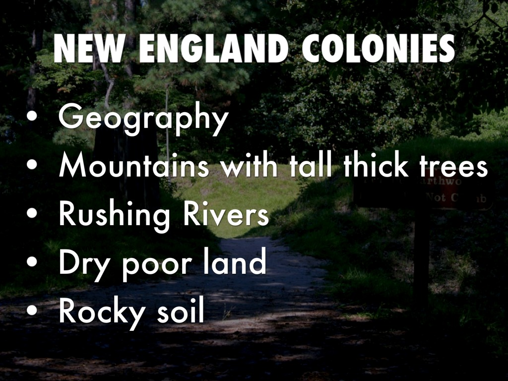 New England Colonies By Baxterswint