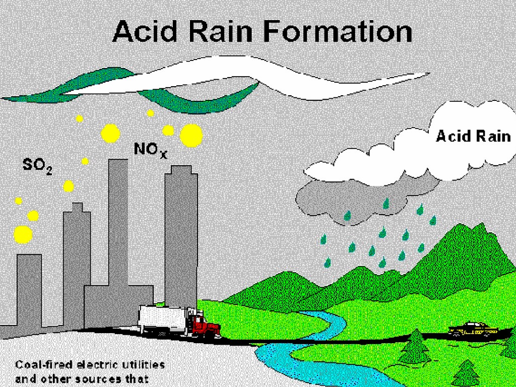 hight resolution of the main reason why this happens is because of human activities we release so many different chemicals that create acid rain