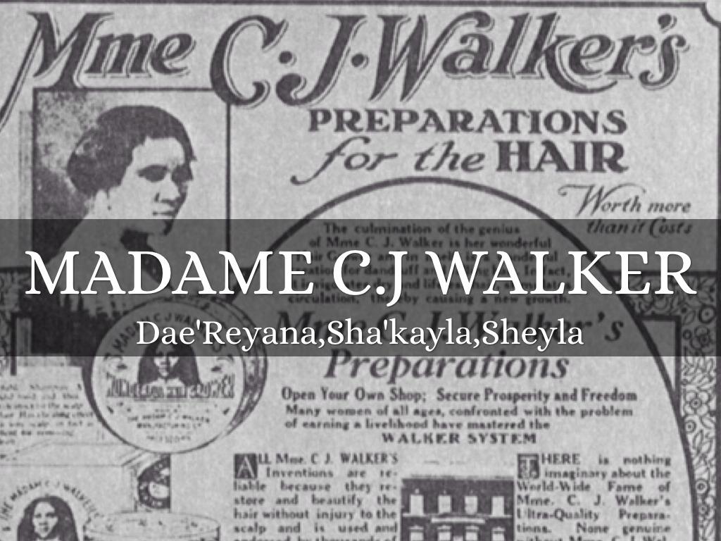 Madam C J Walker By Daereyana Allen