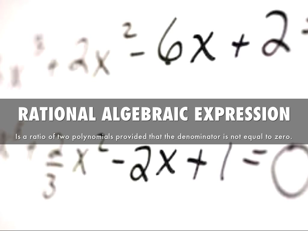 Operations On Rational Algebraic Expressions By Jaina